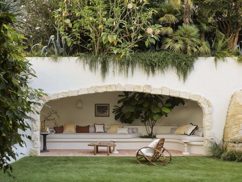 Wyer Co Sydney Landscape Design Mediterranean Inspired Garden with View To Enclosed Cabana Structure with Rooftop Garden Photography by Anson Smart