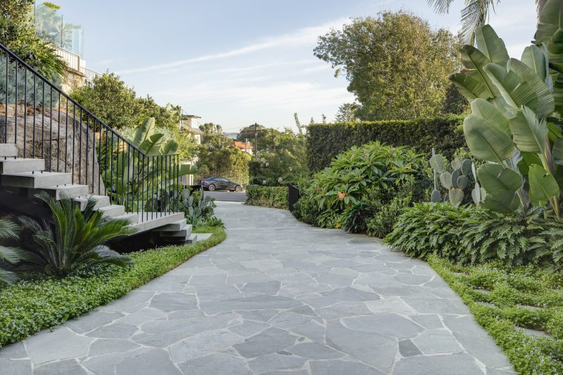 Private-Residence-Features-Lush-Tropical-Landscaping-And-Crazy-Paving